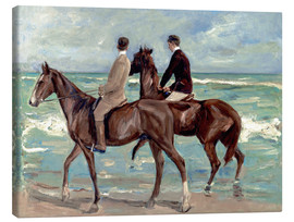 Canvas print  Two riders on the beach - Max Liebermann