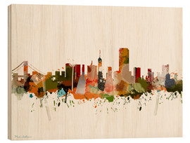 Wood print  San Francisco, California - Mark Ashkenazi