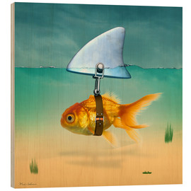 Wood print  Goldfish - Mark Ashkenazi