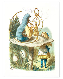 Premium poster  Alice and the Caterpillar - John Tenniel