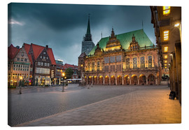 Canvas print  Bremen Market Square with City Hall - Rainer Ganske