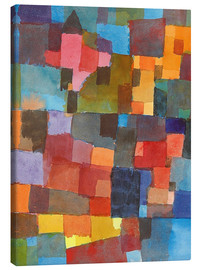 Canvas print  Room Architectures - Paul Klee