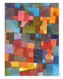 Premium poster  Room Architectures - Paul Klee