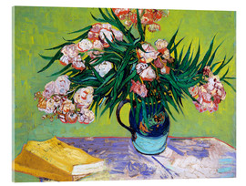 Acrylic print  Majolica Jar with Branches of Oleander - Vincent van Gogh