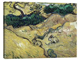 Canvas print  Field with Two Rabbits - Vincent van Gogh