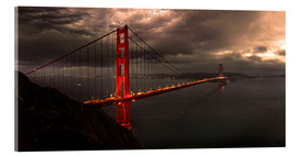Acrylic print  Golden Gate mystical brown - Michael Rucker