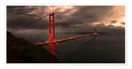 Premium poster  Golden Gate mystical brown - Michael Rucker