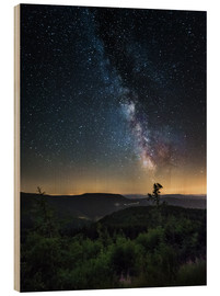 Wood print  Milky Way over Black Forest - Andreas Wonisch