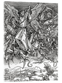Acrylic print  Michael Slaying the Dragon - Albrecht Dürer