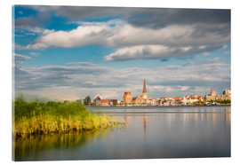 Acrylic print  View over the river Warnow to Rostock (Germany) - Rico Ködder