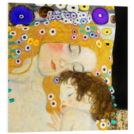 Foam board print  Mother and Child (detail) - Gustav Klimt