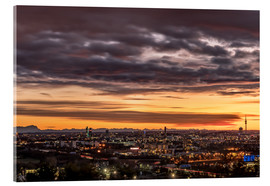 Acrylic print  Sunset over Munich (Bavaria) - Achim Thomae