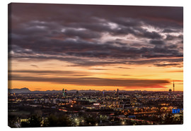 Canvas print  Sunset over Munich (Bavaria) - Achim Thomae