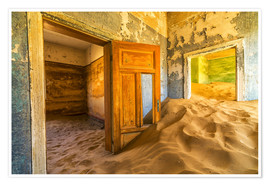 Premium poster  Sand in the premises of an abandoned house - Robert Postma