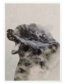 Premium poster  Bear In The fog - Andreas Lie