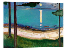 Acrylic print  Moonlight - Edvard Munch