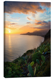 Canvas print  Bay of Funchal at Sunset, Madeira - Markus Kapferer