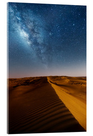 Acrylic print  Milky way over dunes, Oman - Matteo Colombo