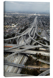 Canvas print  Highways in Los Angeles - David Wall