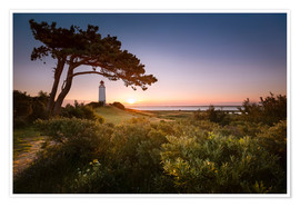 Premium poster  Sunrise at Lighthouse Dornbusch on Hiddensee - Kristian Goretzki