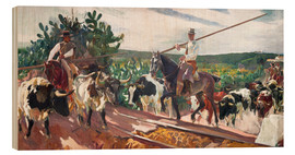 Wood print  The Enclosure - Joaquín Sorolla y Bastida