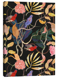 Canvas print  Flowers and leaves