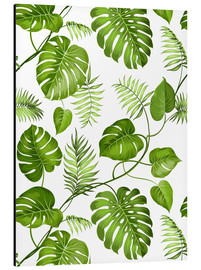 Aluminium print  Monstera and palms