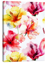 Canvas print  Lily flowers in watercolor