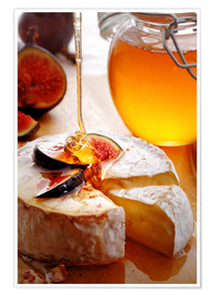 Premium poster  Brie Cheese and Figs with honey - Johan Swanepoel