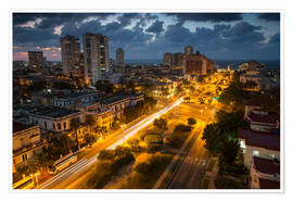 Premium poster  View of Havana - Alex Saberi