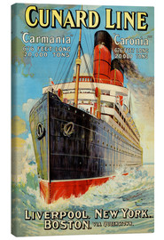 Canvas print  Cunard Line - Liverpool, New York, Boston - Edward Wright