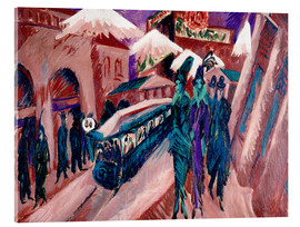 Acrylic print  Leipziger Strasse with electric train - Ernst Ludwig Kirchner