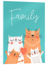 Acrylic print  Family cats - Kidz Collection