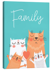 Canvas print  Family cats - Kidz Collection