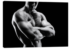 Canvas print  Bodybuilder with arms crossed