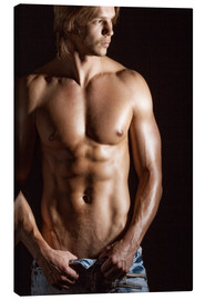 Canvas print  Sexy young man