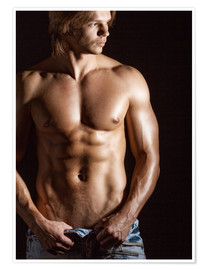 Premium poster  Sexy young man