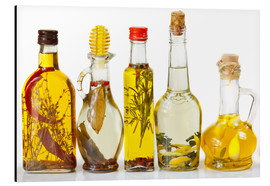 Aluminium print  Homemade Olive Oil with Spices and Herbs