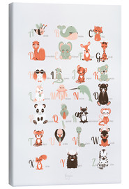 Canvas print  ABC animals (French) - Kanzilue
