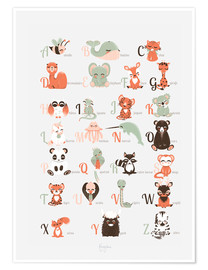 Premium poster  ABC animals (French) - Kanzilue