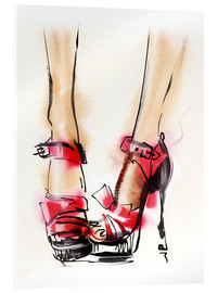 Acrylic print  Red High Heels