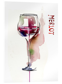 Acrylic print  Glass of Merlot