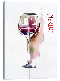 Canvas print  Glass of Merlot
