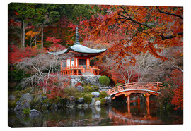Canvas print  Daigoji Temple, Kyoto in autumn