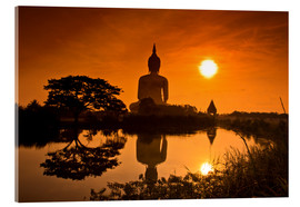 Acrylic print  Shinto statue at sunset