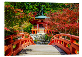 Acrylic print  Temple in Kyoto