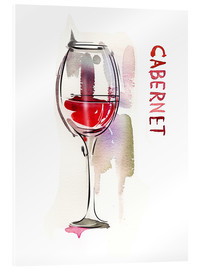 Acrylic print  A glass of cabernet