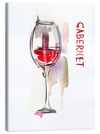 Canvas print  A glass of cabernet