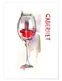 Premium poster  A glass of cabernet