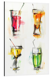 Aluminium print  Colourful Drinks